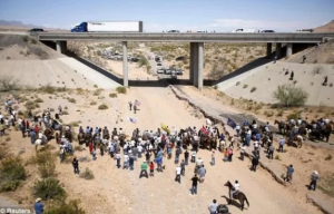 Scene near the Bundy Ranch in Nevada on April 12, 2014