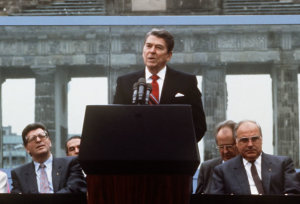 President Reagan at the Brandenburg Gate June 12, 1987