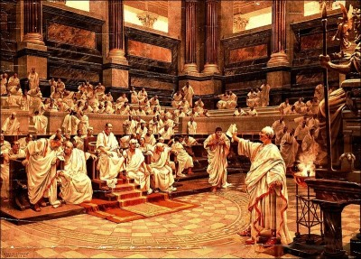 CICERO INDICTS CATILINE BEFORE THE SENATE