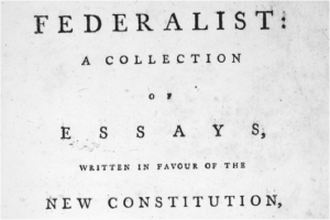 Who wrote the federalist papers