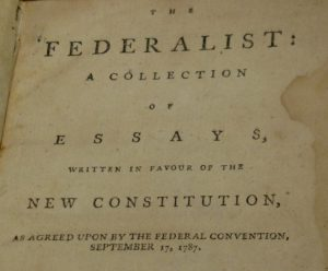 federalist essay 1 The federalist papers were originally newspaper essays written by alexander hamilton, james madison, and john jay under the pseudonym publius, whose immediate goal.
